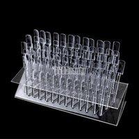 acrylic plate display racks - Manicure Nails Real New Tips Pop Sticks Nail Art Display Stand Tool Uv Gel Acrylic Rack Plate Ts64 Hole Boards