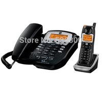 analog corded telephone - GE EE2 GHz Black Corded Analog Base Phone with Cordless Handset Home Phone Wireless Telephone