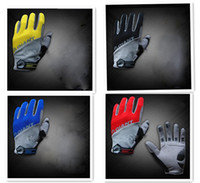 Wholesale 1pair GIANT motorcycle racing bicycle bike biking riding cycling motorcross MTB leather winter gloves women mens full finger