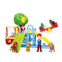 Wholesale Dog paw little toys set slide seesaw for with figures gift for kids birthday patrol