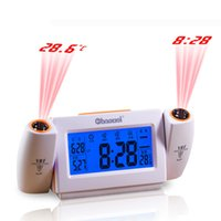 Wholesale Sound Controlled dual projection Alarm Clock Table Clocks