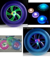 Wholesale LED Luminous Frisbee UFO lights rotating flywheel Flashing Frisbee Toys