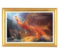 artistic paintings - Great Artistic DIY D Diamond Painting Cross Stitch Embroidery Kit Golden Phoenix Home Decor Crafts cm no frame