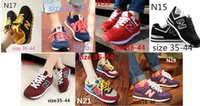 Wholesale 2015 new women and men quot N quot sneaker canvas shoes with rubber and breatheable tenis masculino size