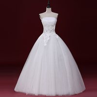 Wholesale LY12 Sexy Fashionable Plus Size Custom Made Bows Beadings organza Cheap Wedding Dress Bridal Dress of bride Gowns Dresses Vestidos
