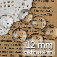 Wholesale 12MM Round Flat Back clear Crystal glass Cabochon Top quality clear glass cabochon glass title sold as C1054