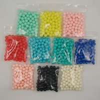 food packaging materials - 100pcs mm various color Package resin no hole Round Beads Jewelry Decoration Material D DIY Jewelry applied to your clothes