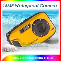 Precio de Camera underwater-Cámaras impermeables 10m impermeables de las cámaras digitales de 16MP cámara + zoom 8x + 2.7inch LCD de las cámaras liberan el envío