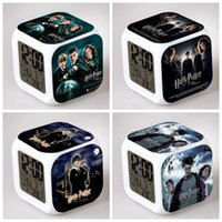 Wholesale Harry Potter Digital Alarm Clock Color Changing LED Clock Kids Cartoon Clocks Styles in stock