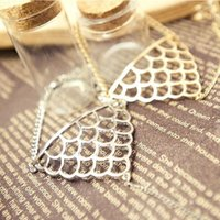 Wholesale Punk Silver Alloy Triangle Fish Scale Pattern Harness Bracelet Cuff Chain