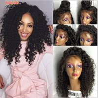 Wholesale Lace wigs afro kinky curly wig peruvian hair glueless full lace afro curly wig for black women lace front human hair wig