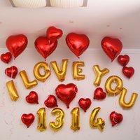 Precio de Tercero-tercer VENTA CALIENTE fuentes de la boda de la boda de oro brillante al por mayor de 16 pulgadas globo globos partido decoración de cumpleaños cartas de aluminio papel de aluminio