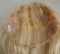 Cheap Wholesale-Speical Custom Full lace headband Wig Grip Blonde Mongolian Hair Lace front