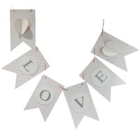 background white paper - Heart Banners Wedding Decoration Valentine s Day Anniversary Wedding Favors And Gifts Romantic Hanging Wall Background Banners