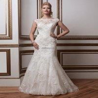 air castle - 2015 Famous Brand Bridal Gown White Mermaid Vestido De Noiva Plus Size Sexy Backless Long Lace Ups Air Express Wedding Dress