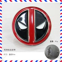 Wholesale Brand New Red Deadpool Belt Buckle Marvel Anti Hero Super Villain Newly Style Fashion Man Belt Buckle cm E695