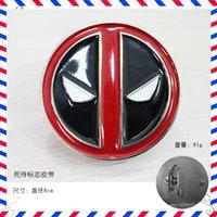 Wholesale Brand New Red Deadpool Belt Buckle Marvel Anti Hero Super Villain Newly Style Fashion Man Belt Buckle cm E695
