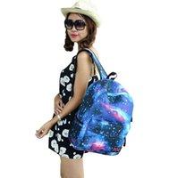 Wholesale Star new fashion bag wave packet Korean Japanese Harajuku shoulder bag backpack schoolbag handbag tote bags galaxy bag