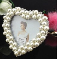 Wholesale Metal Picture Frames Pearl wedding photo frame child gift photo frame personal framework home decor gift marco frames