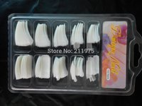 acrylic nail school - Natural Color ACRYLIC GEL FALSE FRENCH NAIL ART TIPS Salon School Tools
