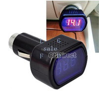 Wholesale New Mini Digital Red Car Battery Meter Tester Car LCD Battery Voltage Meter Monitor DC V Black TK0024