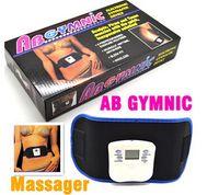 Vibrant mince masseur de la ceinture de la beauté du bâtiment AB GYMNIC de santé électronique de la carrosserie Retour soulagement de la douleur Ceinture de massage DHL