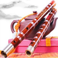 Cheap Wholesale-Whistle and Flute Musical Instrument Bamboo Flute C D E F G Transverse Flute Professional Flauta brass joints Whistle and Flute