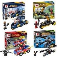 Wholesale 4pcs set Super Hero Spiderman venom Batman vs Bain Captain America Wolverine vs Deadpool Minifigure Building Block Toys Figure gifts Blocks