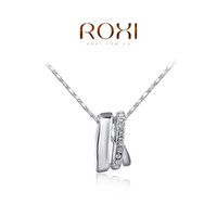 chain link fence - ROXI Christmas Gift New Fashion Jewelry Platinum Plated Statement Elegant Fence Necklace For Women Party Wedding