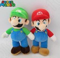 Wholesale Super Mario Bros Stuffed Animals - 25 cm Super Mario Bros. Mario & Luigi Plush Doll Stuffed Animal Toy Super Mario Mario Mushroom Plush Toys Doll KKA29 20pcs