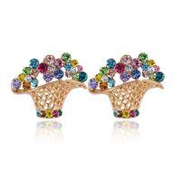 Wholesale 2015 New fashion K gold earrings Crystal rhinestone earrings Generous and aesthetic wedding earrings Christmas gifts Fast Shipment