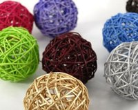 Wholesale Rattan Wicker Cane cm Balls for Garden Patio Wedding Party decoration DIY for Thailand style string lights