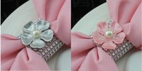 crystal napkin ring - Stretchy Crystal Beaded Flower Napkin Rings Wedding Table Decorations Wedding Supplies For Chair Sash Napkins Pieces A