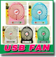 Wholesale New F95B Portable Mini USB Fan Rechargeable Battery Operated LED Lamp for Indoor Outdoor Kids Table Mini Fan With Battery