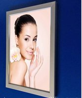 Wholesale LED light box panel turn over alumium snap frames A4 size single side backlit poster signs display advertise