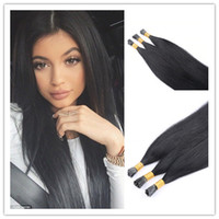 "Wholesale Stick Virgin Hair - 8A Grade Keratin Stick I tip Human Hair Extensions Straight Indian Vrigin Hair 100g pack 18"" ---28"" Remy Tip Hair"