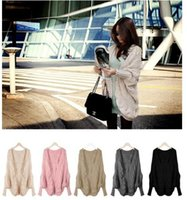 Wholesale Hot Sales Womens Lady Loose Batwing Sleeve Cable Knitted Chunky Cardigan Sweater Cape Shawl