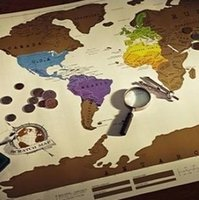 world of products - Novelty Travel Map scratch map of the world scratch map Hot Products scratch map of the world with box