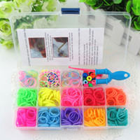 Cheap Hot Sale! Free Shipping Rubber Loom Band Set, Funny Loom Rubber Kit Bracelets DIY Gift for Kids 19 Colors+455pcs Bands order<$15 no tracking