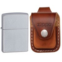 Wholesale Zippo Pocket Lighter Brown Leather Loop Pouch