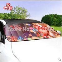 Wholesale Auto snow block car winter snow cream covered Cute cartoon amphibious sunshade thick snow block