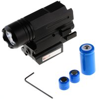 Wholesale 1000LM Tactical Flashlight Mount Hunting Light Torch mm Red Laser Light VEA73 W0 SUP5
