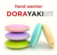 Wholesale New Dorayaki sided heated hand warmer Power Bank mA large capacity battery perfect winter gift