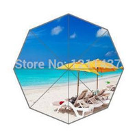 beautiful beach scenery - Custom Top Quality Fantastic beautiful beach scenery Art inch Automatic Fold Umbrellas Good Gift For Birthday Friend