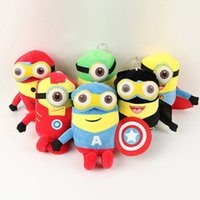 avengers videos - The Moive Minions Plush Toy The Avengers Stuffed Doll Captain America Iron Man Hulk Spider man Superman Batman Toy Christmas Promotion Gift