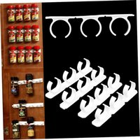 Wholesale 4 Sets Kitchen Clip Spice Gripper Jar Rack Storage Holder Wall Cabinet Door HK