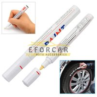 Wholesale White Permanent Car Tyre Marker Pen Paint Motorcycle Bike Universal Waterproof Metal Wheel Tread Rubber Paint Marker Pen