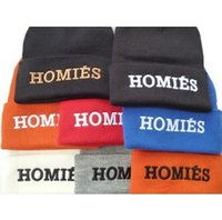 homies - Ladies HOMIES embroidery knitted beanies female winter sports ski hats casual hip hop beanie hats woolen skullies caps for women