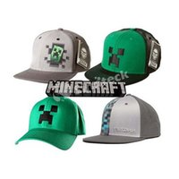 Ball Cap hat factory - 2015 Cartoon Minecraft Caps JJ Monster Creeper Baseball Cap Mesh Hat Fashion Peaked Sun Hats Ball Caps Factory Free DHL