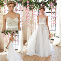 Cheap 2015 Summer Boho Bohemian Wedding Dresses Backless Lace Tulle Court Train Western Country Beach Wedding Dresses Bridal Gowns